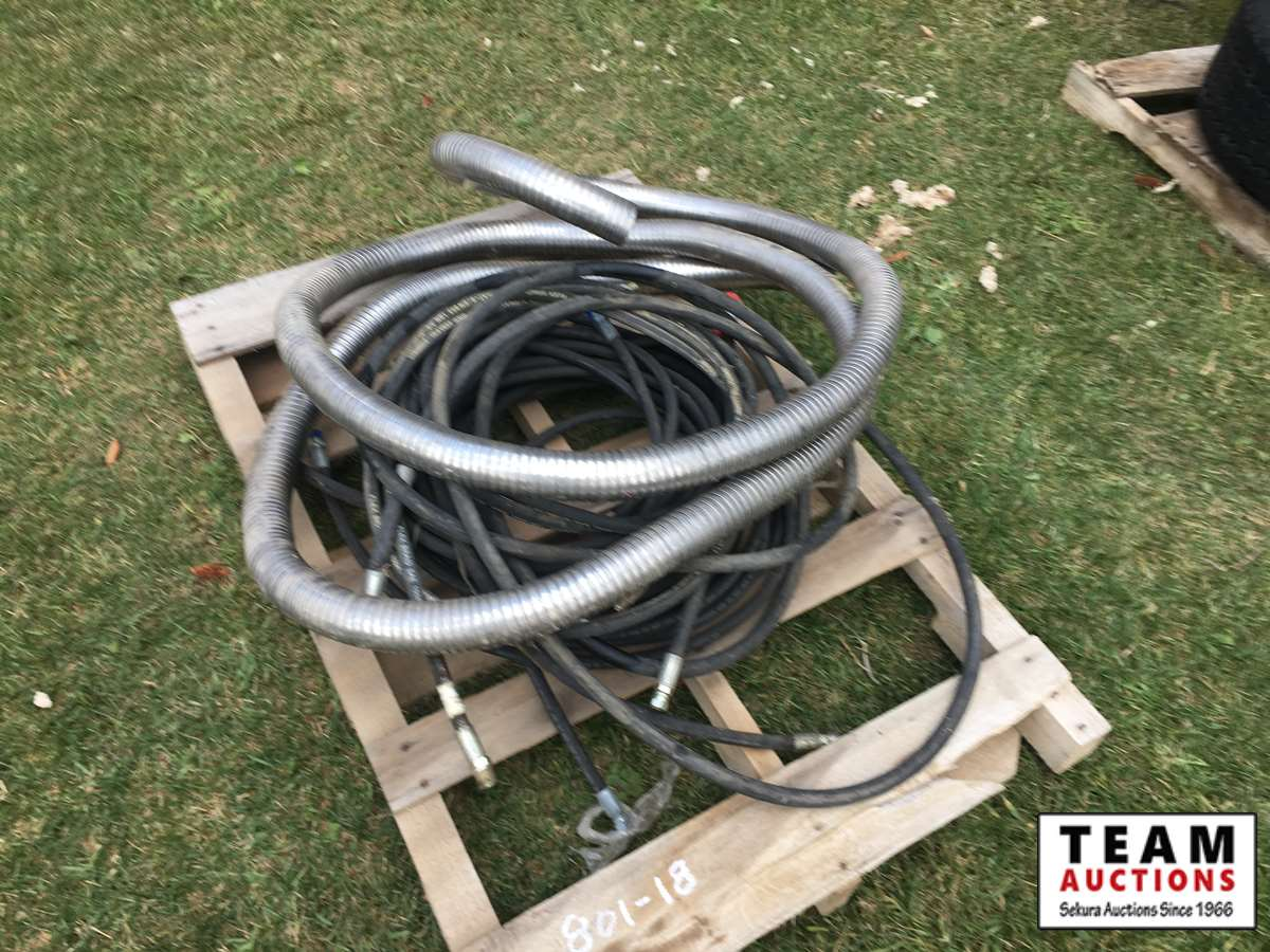Qty of Hydraulic Hoses & Metal Exhaust Hose