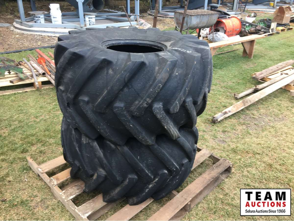 (2) 21.5L-16.1 Swather Drive Tires