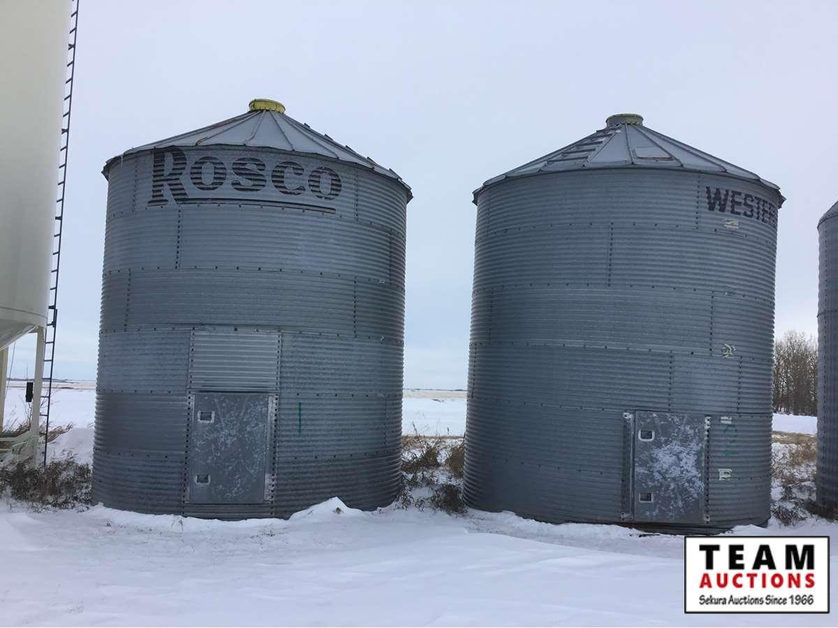 (15) Flat Bottom Grain Bins